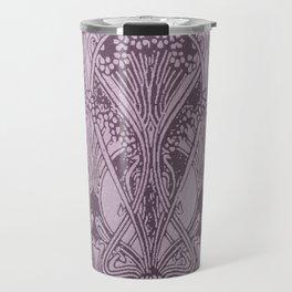 Lavender,art nouveau,vintage,beautiful,floral,belle époque,pattern,elegant, chic,modern,trendy Travel Mug