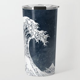The Great Wave of a Star System Travel Mug