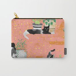 Cats & Plants #society6artprint ##cats #decor Carry-All Pouch