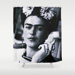 Frida Kahlo Smoke Shower Curtain