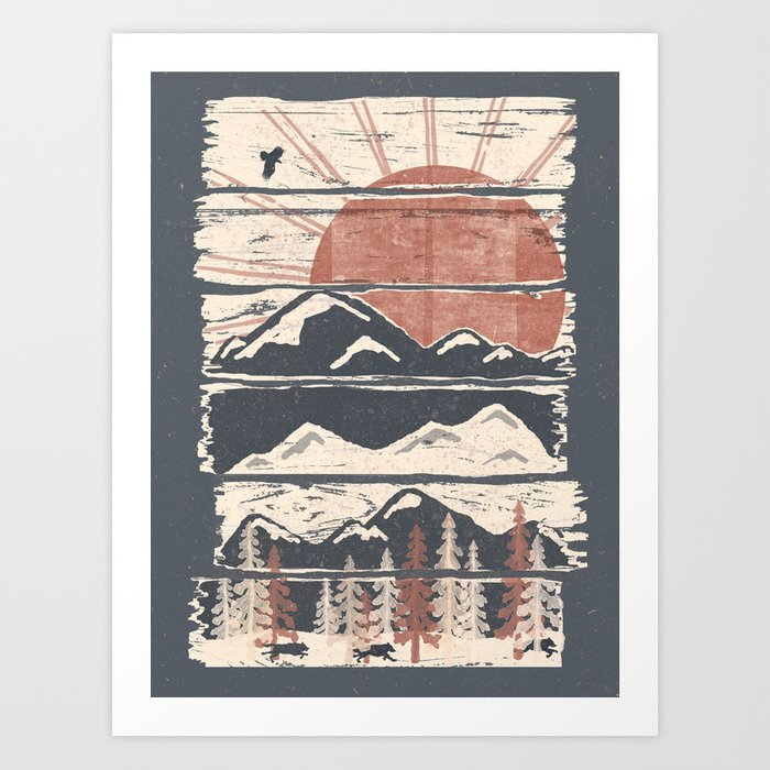 Winter Pursuits... Kunstdrucke