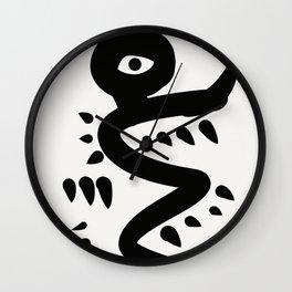 Minimal Primitive African Artwork Wall Clock