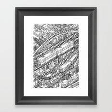 The Town of Train 3 Framed Art Print