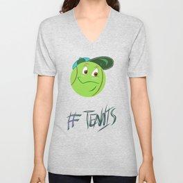 Tennis ball smiley Unisex V-Neck