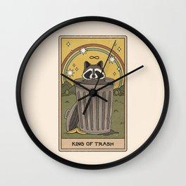 King of Trash Wall Clock
