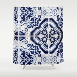 Azulejo VI - Portuguese hand painted tiles Shower Curtain