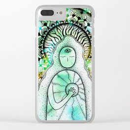 The Light Inside (light version) Clear iPhone Case