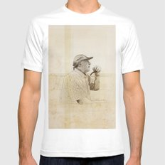 PIPE White Mens Fitted Tee MEDIUM