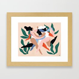 Take time to dance Framed Art Print