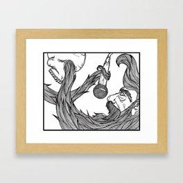 The beard Framed Art Print