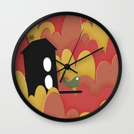 Birdhouse n.2 Wall Clock