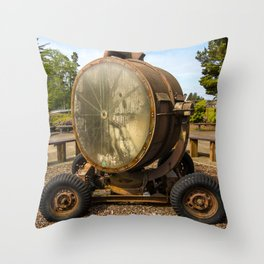 Historic Military Spotlight - Fort Stevens - Oregon Throw Pillow