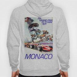 Gran Prix de Monaco, 1971, original vintage poster Hoody