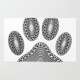 Ink Dog Paw Print Rug