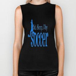 Eat, Sleep, Play Soccer Biker Tank