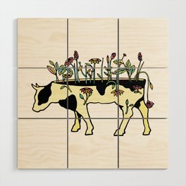 Cow Me Vegan Wood Wall Art