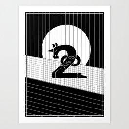 Two Bows Unicorn Art Print