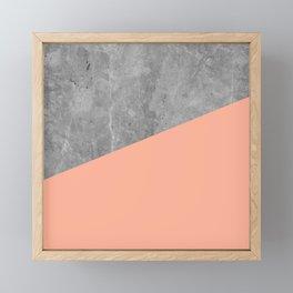 Geometry 101 Sweet Peach Pink Framed Mini Art Print