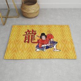 Kabuki Japanese Folk Art Motif Rug