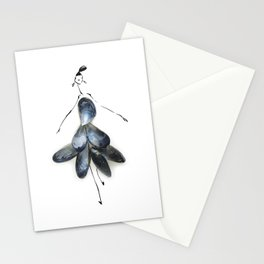 Edible Ensembles: Blue Mussels Stationery Cards