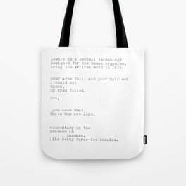 untitled (after 'the waste land') Tote Bag