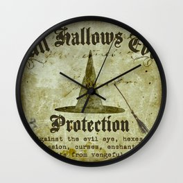 All Hallows Protection Wall Clock