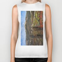 big sur Biker Tanks featuring Big Sur Mountains by Jeremiah Wilson
