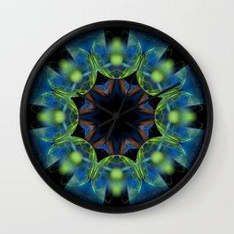 Floral Tribute Mandala Wall Clock