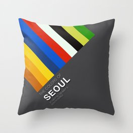 Colors of Seoul Throw Pillow