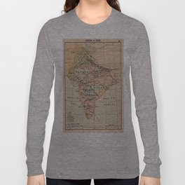Vintage Map of India (1823) Long Sleeve T-shirt