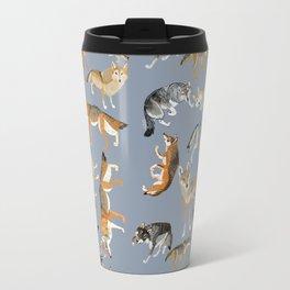Eurasian wolves pattern Travel Mug