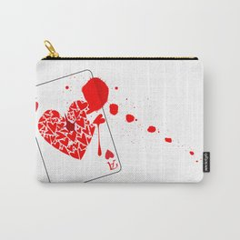 Ace of Hearts With Blood Carry-All Pouch