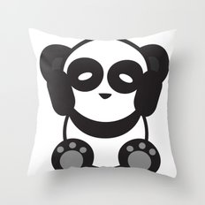 Panda Mantra Throw Pillow