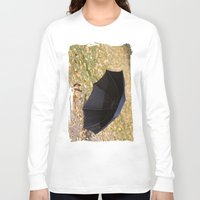 eternal sunshine of the spotless mind Long Sleeve T-shirts featuring I never carry an umbrella. I'm prepared to walk in an eternal sunshine. by Irène Sneddon