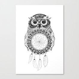 Owl Mandala Canvas Print
