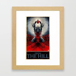 From The Hill (color) Framed Art Print