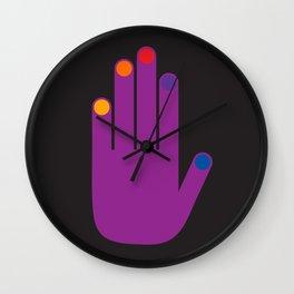 Purple Pop Hand Wall Clock