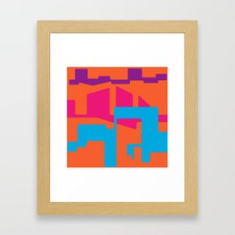 LINES AND TROUBLES Framed Art Print