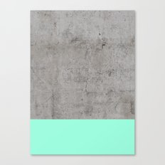 Sea on Concrete Canvas Print