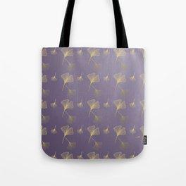 Ginkgo Purple Gold Tote Bag