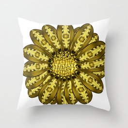 """""""Gold"""" Gazania Flower Special Edition 2 (Clear Back) Throw Pillow"""