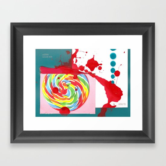 Swizzle Stick Framed Art Print