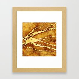 MARBLED CEYLON YELLOW Framed Art Print