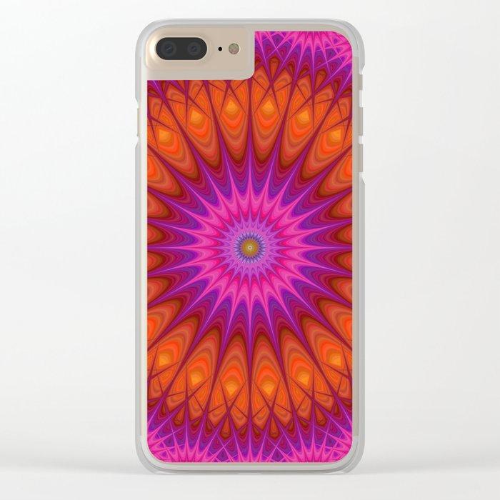 Hell mandala Clear iPhone Case
