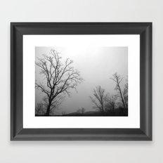 Tree of Ice Framed Art Print