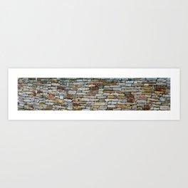 Stone Wall. Croton on Hudson. USA. Art Print