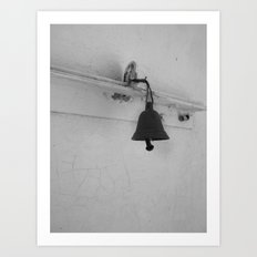 Bell in old house Art Print