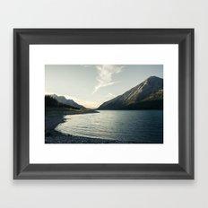Rocky Mountain Lake At Dusk Framed Art Print