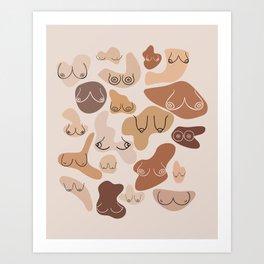 Boobs Feminine Aesthetic Art Art Print