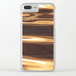 Water Sunset Pattern Clear iPhone Case